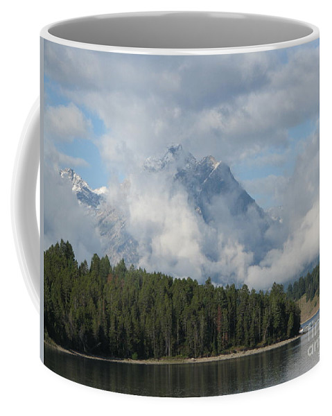 Patzer Coffee Mug featuring the photograph Dam Clouds by Greg Patzer