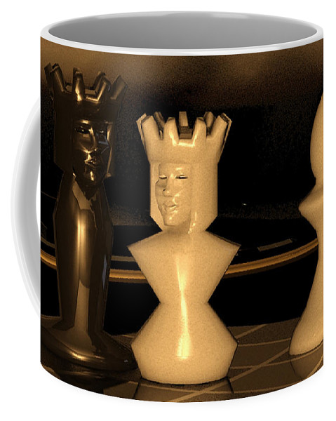 Damiano Coffee Mug featuring the digital art Damianos Bishop Mate by James Barnes