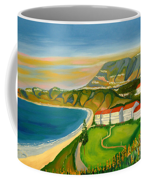 Landscape Coffee Mug featuring the painting Dana Point by Milagros Palmieri