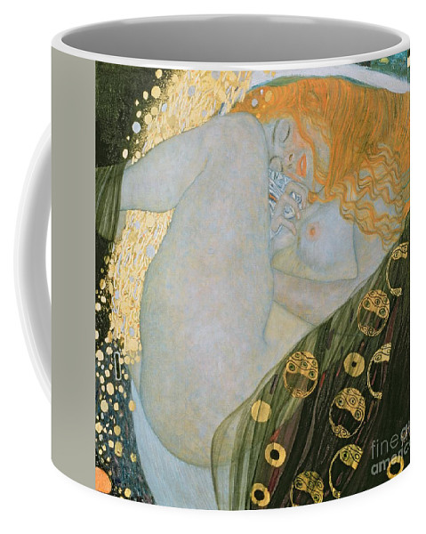 Danae Coffee Mug featuring the painting Danae by Gustav Klimt