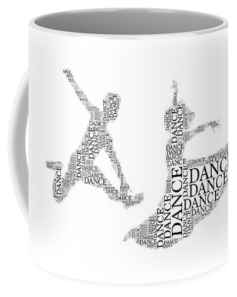 Alicegipsonphotographs Coffee Mug featuring the photograph Dance Couple Words by Alice Gipson