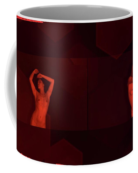 Burlesque Coffee Mug featuring the photograph Dance In Nothing But Red By Mb by Mary Bassett