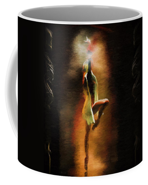 Danse Macabre Coffee Mug featuring the painting Dance Macabre by Bob Orsillo