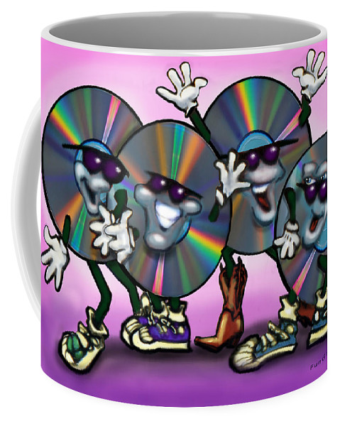 Dance Coffee Mug featuring the greeting card Dance Music by Kevin Middleton