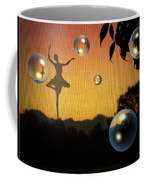 Ballerina Coffee Mug featuring the photograph Dance Of A New Day by Joyce Dickens
