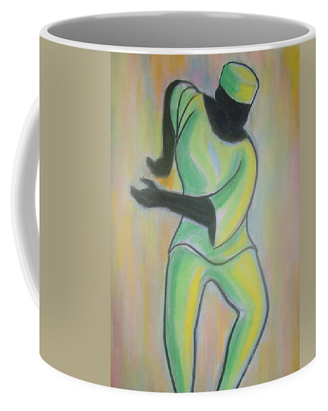 Coffee Mug featuring the drawing Dance Of Joy by Jan Gilmore