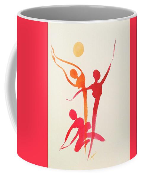 Coffee Mug featuring the painting Dance Of Joy by Priti Gokani