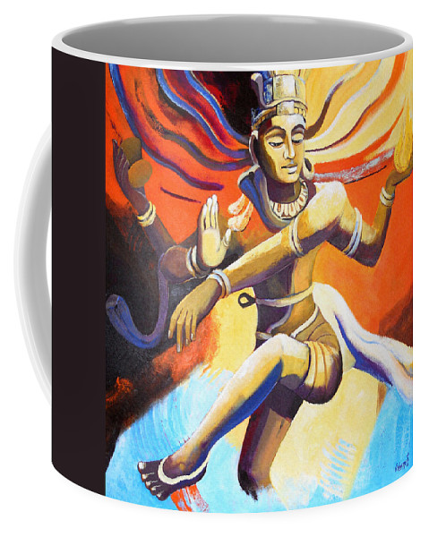 Shiva Coffee Mug featuring the painting Dance Of Shiva by Vishwajyoti Mohrhoff
