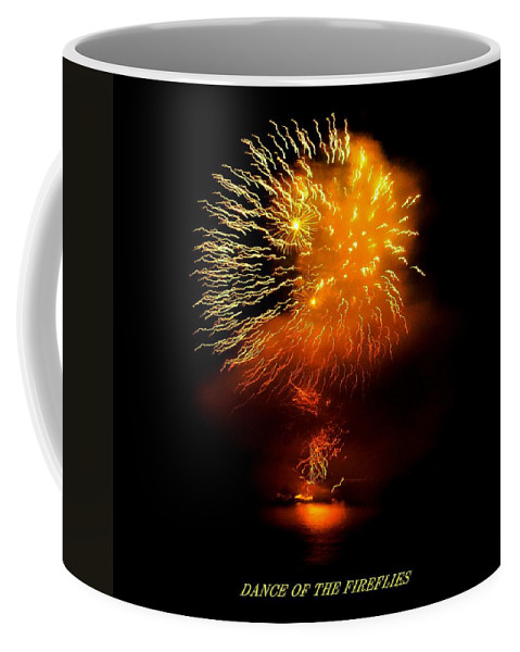 Fireworks Coffee Mug featuring the photograph Dance Of The Fireflies by Kendall Eutemey