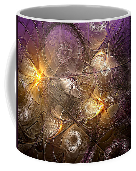 Abstract Coffee Mug featuring the digital art Dance Of The Necromancer by Casey Kotas