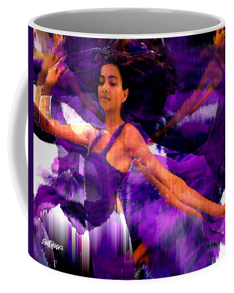 Mystical Coffee Mug featuring the digital art Dance Of The Purple Veil by Seth Weaver