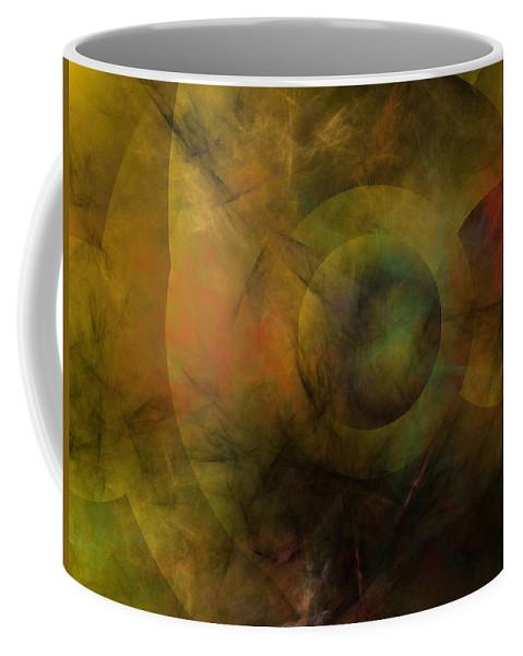 Fantasy Coffee Mug featuring the digital art Dance Of The Spheres by David Lane