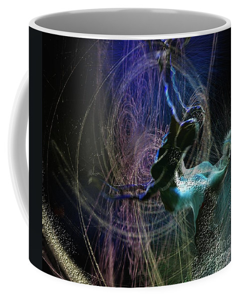 Nature Painting Coffee Mug featuring the painting Dance Of The Universe by Miki De Goodaboom