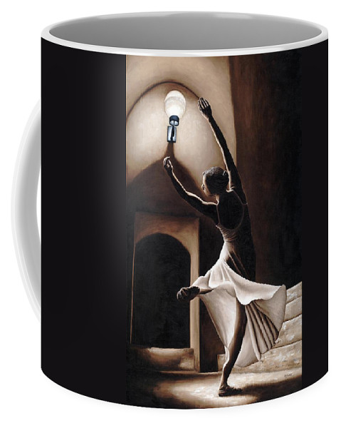 Dance Coffee Mug featuring the painting Dance Seclusion by Richard Young