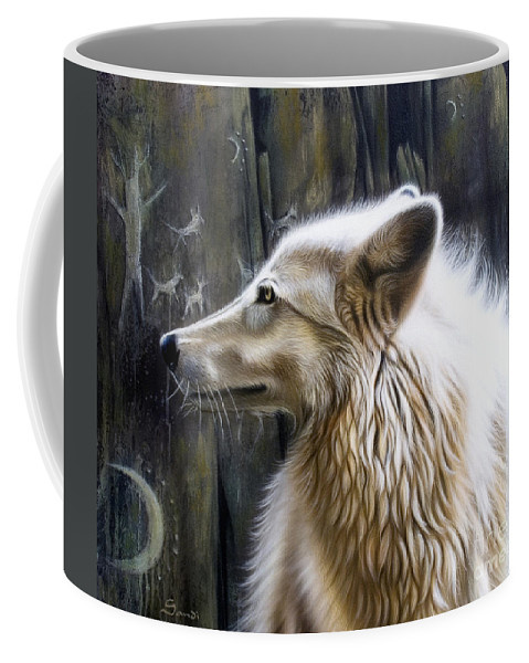 Acrylics Coffee Mug featuring the painting Dance -The Moon by Sandi Baker