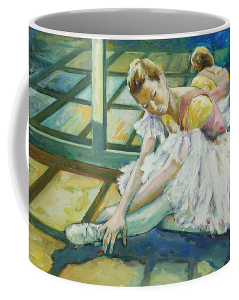 Glass Coffee Mug featuring the painting Dancer by Rick Nederlof