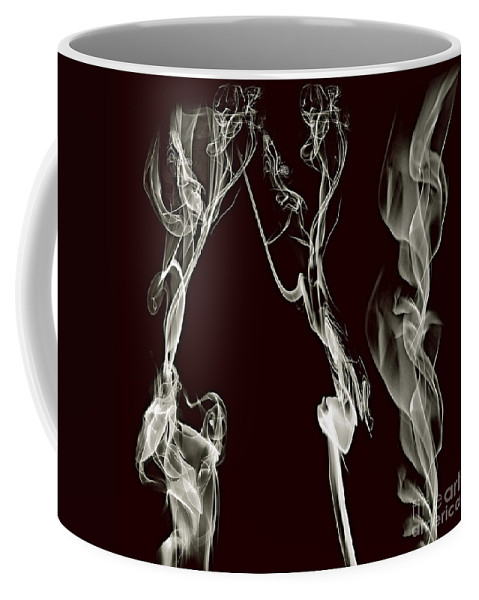Clay Coffee Mug featuring the digital art Dancing Apparitions by Clayton Bruster