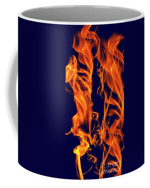 Clay Coffee Mug featuring the digital art Dancing Fire I by Clayton Bruster