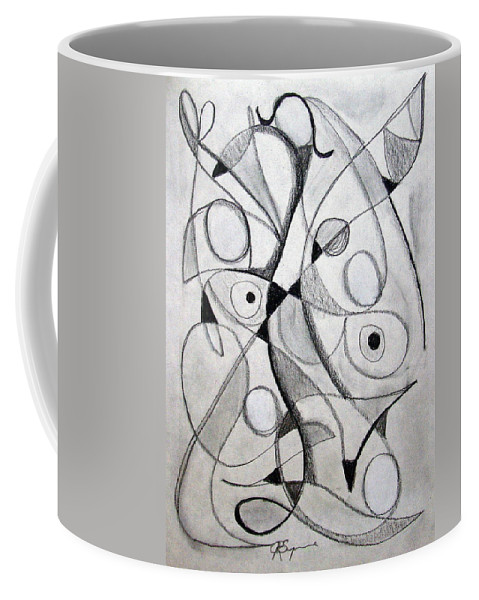 Pencil Coffee Mug featuring the drawing Dancing For Joy by J R Seymour