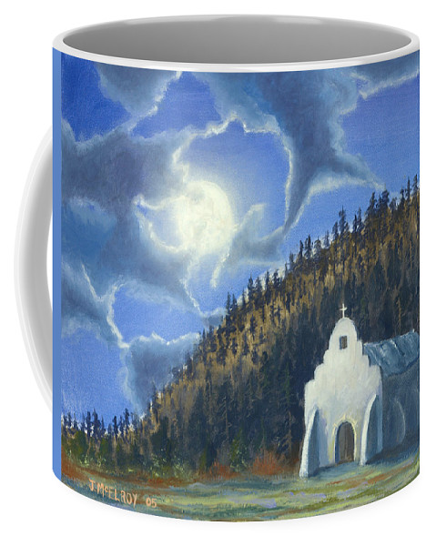 Landscape Coffee Mug featuring the painting Dancing in the Moonlight by Jerry McElroy