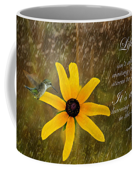Inspirational Photography Coffee Mug featuring the photograph Dancing In The Rain Print by Gwen Gibson