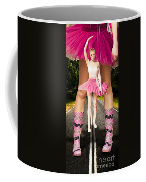 Blond Coffee Mug featuring the digital art Dancing In The Rain by Jorgo Photography - Wall Art Gallery