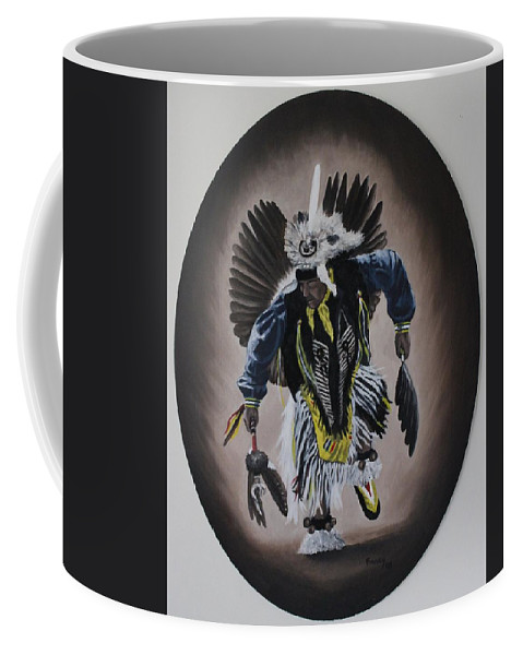 Michael Coffee Mug featuring the painting Dancing In The Spirit by Michael TMAD Finney