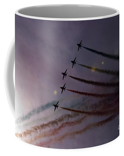 Red Arrows Coffee Mug featuring the photograph Dancing In The Sun by Angel Tarantella