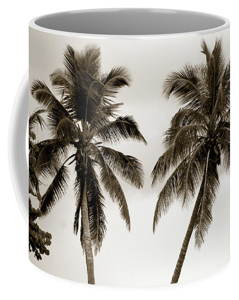 Palms Coffee Mug featuring the photograph Dancing Palms by Susanne Van Hulst