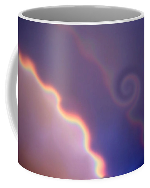 Rainbow Coffee Mug featuring the digital art Dancing Rainbows by Donna Blackhall