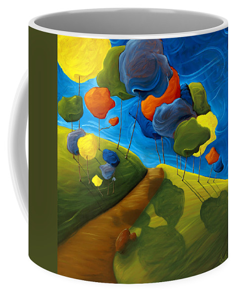 Landscape Coffee Mug featuring the painting Dancing Shadows by Richard Hoedl