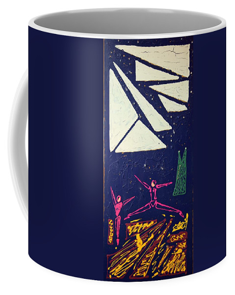 Dancers Coffee Mug featuring the mixed media Dancing Under The Starry Skies by J R Seymour