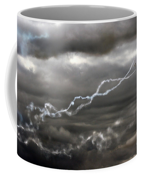 Swift Aerobatic Display Team Coffee Mug featuring the photograph Dancing With The Clouds by Angel Ciesniarska