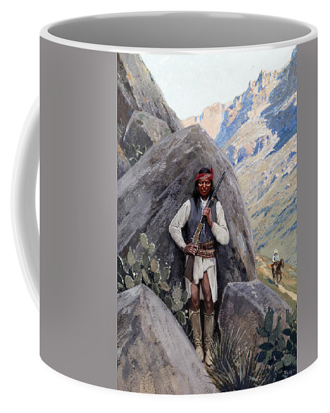 Henry Francois Farny Coffee Mug featuring the painting Dangerous Ground by Henry Francois Farny