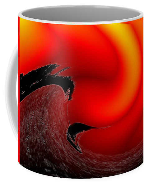 Danger Coffee Mug featuring the photograph Dangerous Waters Off Alki by Tim Allen