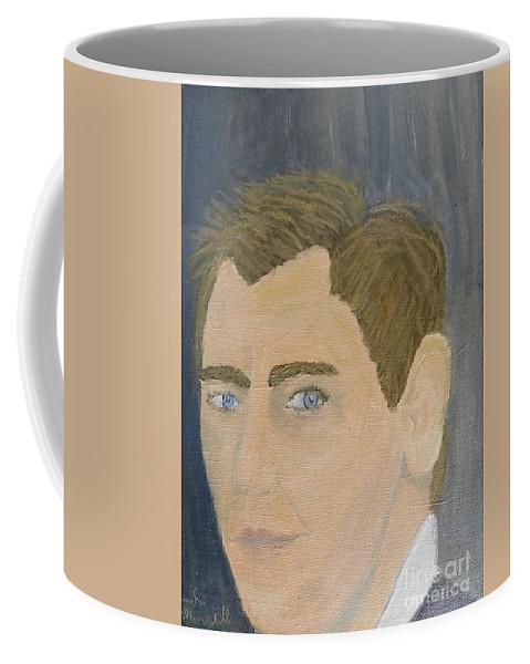 Pamela-meredith Coffee Mug featuring the painting Daniel Craig by Pamela Meredith