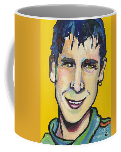 Portrait Coffee Mug featuring the painting Daniel by Pat Saunders-White