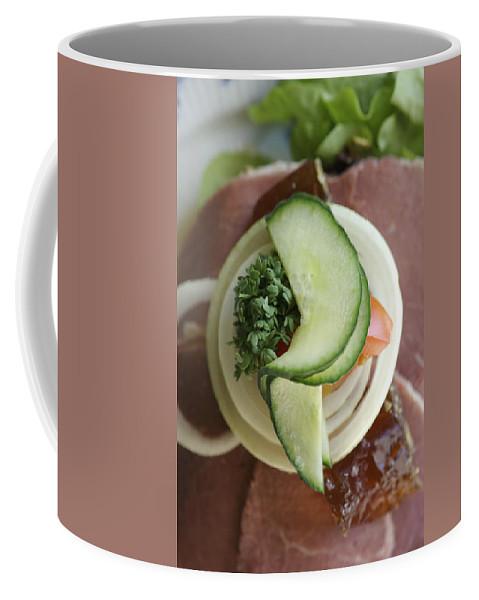 Close-up Coffee Mug featuring the photograph Danish Cured Meat Dish, Arhus, Denmark by Keenpress
