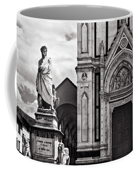 Dante Coffee Mug featuring the photograph Dante At The Church by Mick Burkey