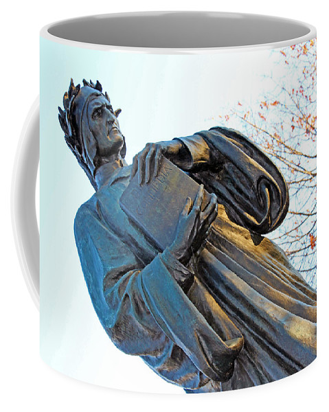 Dante Coffee Mug featuring the photograph Dante In Meridian Hill Park by Cora Wandel