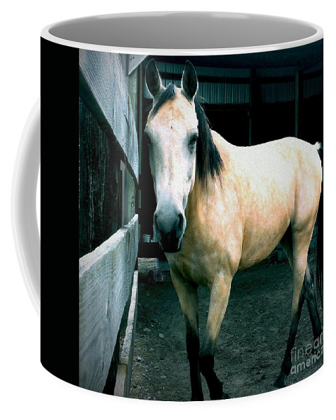 Horse Coffee Mug featuring the photograph Dappled Buckskin by LKB Art and Photography