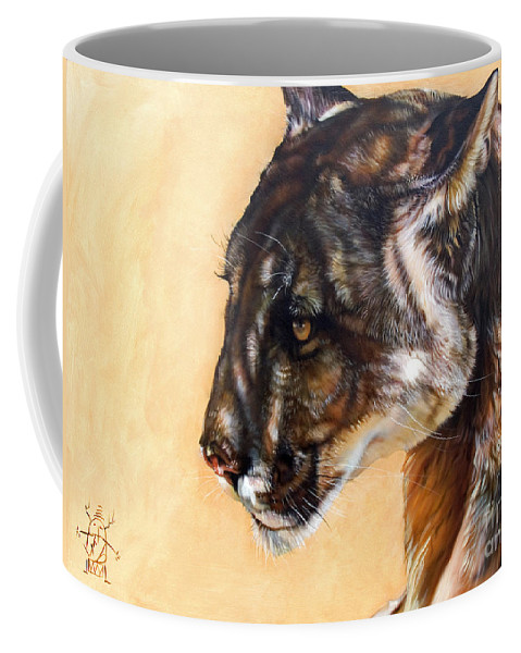 Catamount Coffee Mug featuring the painting Dappled by J W Baker