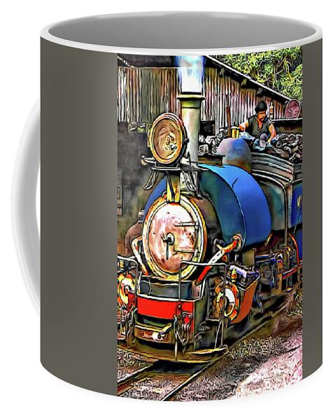 Toy Train Coffee Mug featuring the photograph Darjeeling Toy Train by Steve Harrington