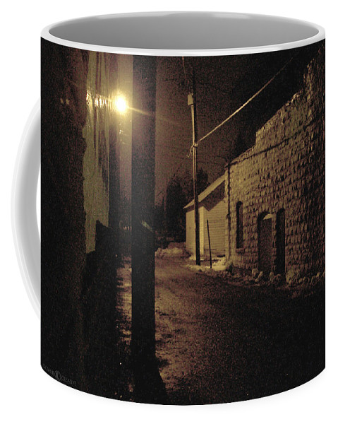 Alley Coffee Mug featuring the photograph Dark Alley by Tim Nyberg