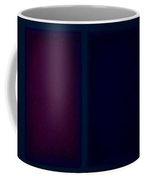 Rothko Coffee Mug featuring the painting Dark Blue by Charles Stuart