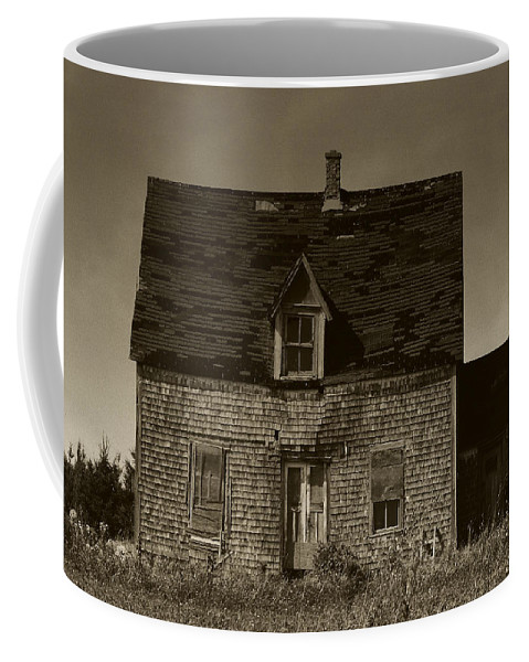 Old House Coffee Mug featuring the photograph Dark Day On Lonely Street by RC DeWinter