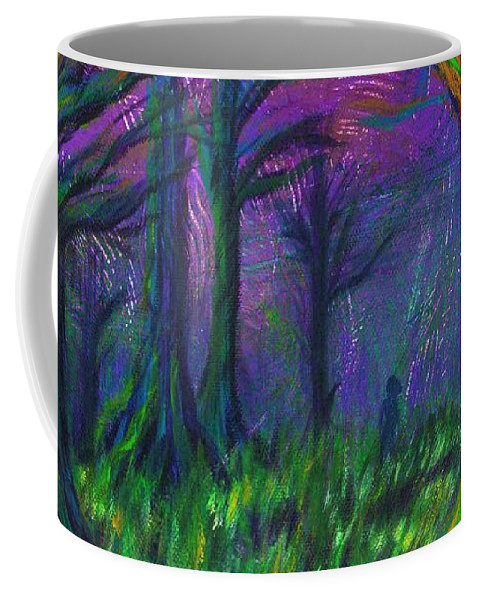 Forest Coffee Mug featuring the painting Dark Forest by Stephanie Elaine Smith