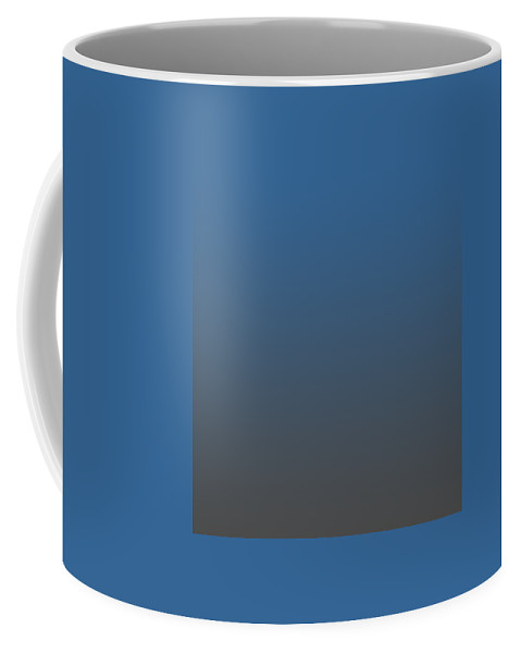 Ombre Coffee Mug featuring the digital art Dark Gray Ombre by Custom Home Fashions