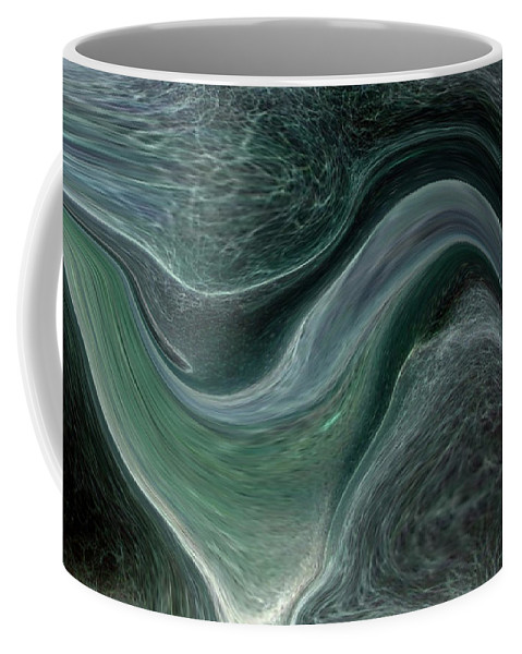Abstract Coffee Mug featuring the photograph Dark Green Flow by Allan Hughes