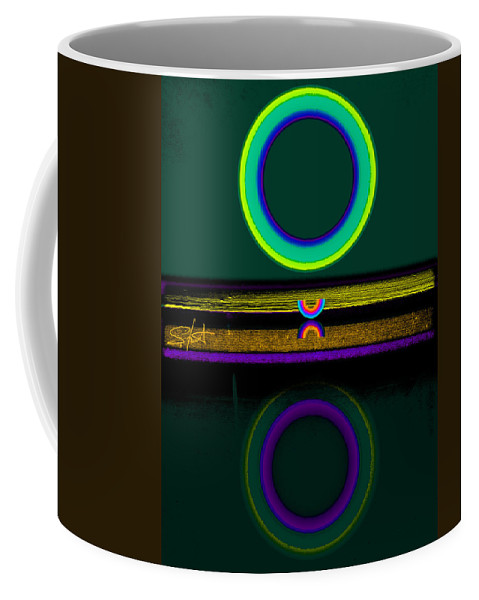 Reflections Coffee Mug featuring the painting Dark Green Lake by Charles Stuart